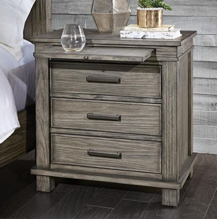 A America Reclaimed Pine Glacier Point Nightstand Charging Station