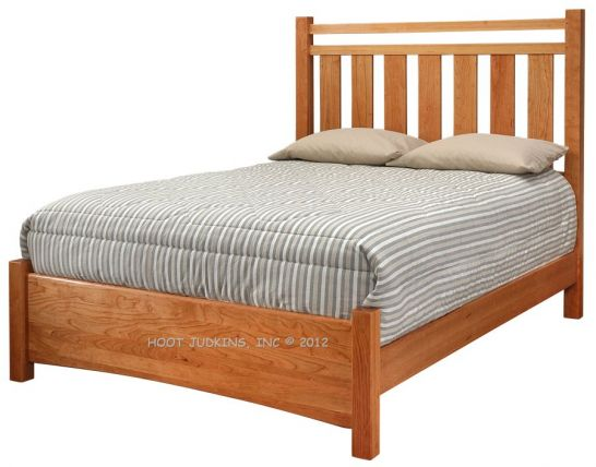 Hoot Judkins Furniture Stuart David California Made Solid Cherry Wood Queen Chase Bed In Natural Finish