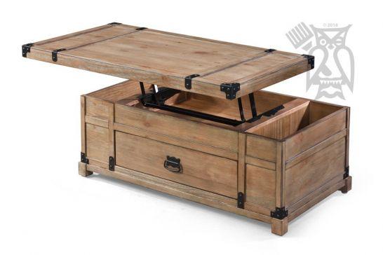 Hoot Judkins Furniture Coast To Coast Acacia Wood Lift Top Coffee Table Trunk In Carmel Burnished Natural Finish