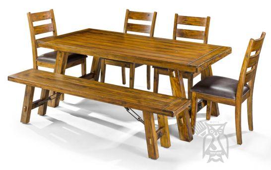 Mahogany Wood Tuscany Table Chair Set